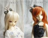 Gothic Lolita Little Crown Bow Hair Band for BJD SD and MSD/YoSD Dolls