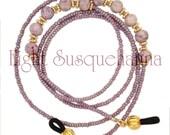Mauve Iris Riverstone Eyeglass Chain, Reading Glasses, Sunglasses GL2533