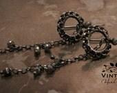 Earrings - Enchanting - Sterling Silver adorned with Labradorite gemstone beads