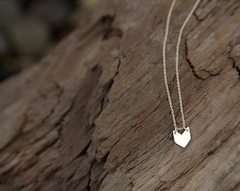 Baby Chevron Necklace in Sterling Silver