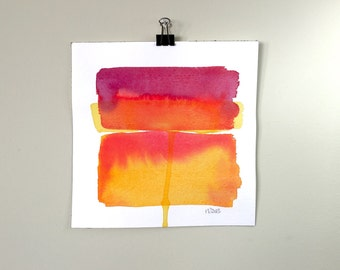Color Field 5.  A signed original watercolor painting.