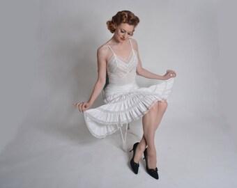 Vintage 1950s Barbizon Lace Petticoat - Petti Grace - Wedding Lingerie Size Small