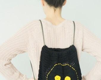 Backpack Smiley Bag Kid Bag Kindergarten Bag Child Bag Children Bag School Bag Funny Bag Black Bag Children Baby Bag  Gym Bag Sport bag