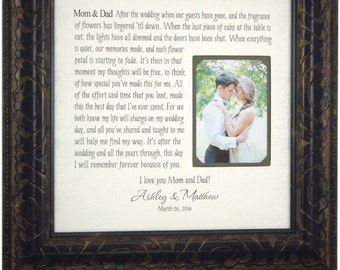 Mother of the Bride Gift, Wedding Gift for Mom. 16 X 16