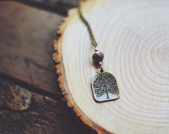 bohemian tree necklace.