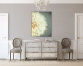 Canvas Art: Dandelion Art for Girls, Nursery Decor, Pastel Blue Wall Art, Gallery Wrapped Canvas, Dandelion Print, Girl's Room Decor.
