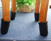 Special Listing for Stacey - 4 sets of brown Chair Socks, crochet