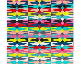 lawn diamonds quilt pattern