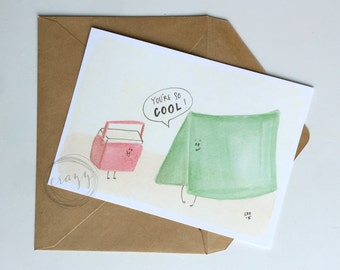 you're so cool : 5x7 flat card with envelope