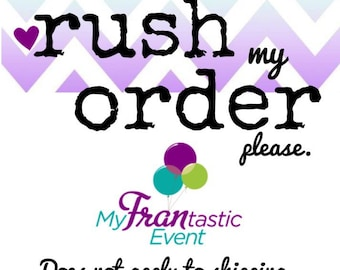 RUSH ORDER - Order Processed in 1-2 Days instead of 5 days to 2 weeks - Does NOT Apply to Shipping.