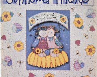 Country Fixin's Sunflower Friends Decorative Painting Book, by Rhonda Caldwell, Vintage 1995