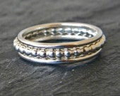 Silver women's stackable band ring SET, thumb ring, sterling silver handcrafted stacking rings, serendipity jewelry