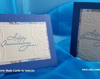 Happy Anniversary embossed layered cards