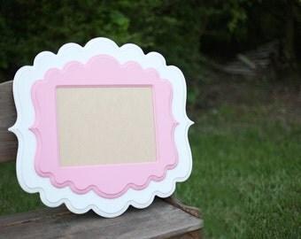 14x14 Whimsical Picture Frame Handmade Frame Wooden Frame