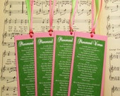 Maya Angelou Bookmark Sets - Pink and Green Favors, Set of 4, Phenomenal Woman Poem, Women's Day, Reading Club, Literature Lovers