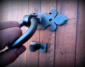 DOOR KNOCKER - Forged and Signed by Blacksmith Naz - Door Accessories - Metal Art
