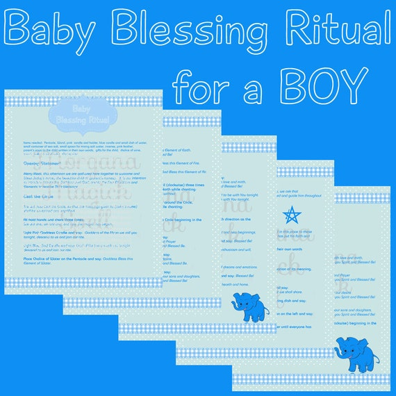 BABY BOY BLESSING Ritual  Digital Download,  Book of Shadows Page, Grimoire, Scrapbook, Spells, White Magick, Wicca, Witchcraft, Herb Magic