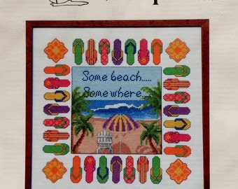 Stephanie Seabrook Hedgepath | BEACH ESCAPE | Pegasus Publications | Counted Cross Stitch Pattern