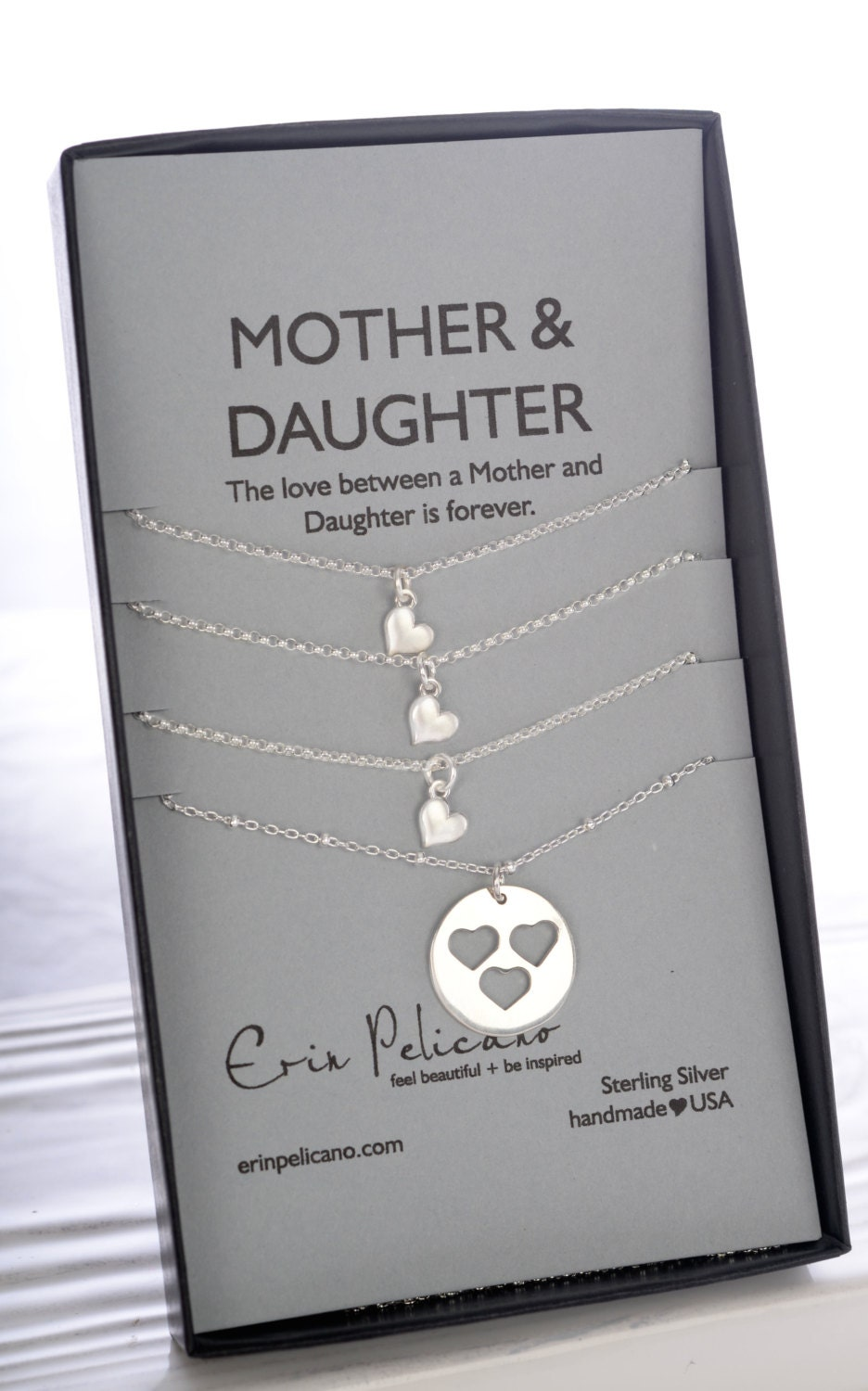 Mother Daughter Necklace Mom Birthday Mom Daughter Jewelry Set