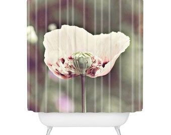 poppy shower curtain | etsy