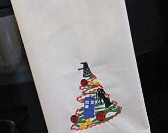 Christmas Flour Sack Towel - Doctor Who