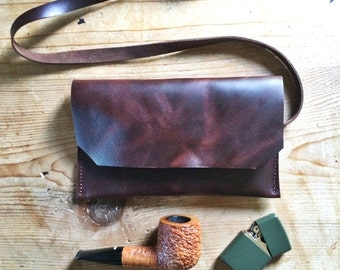 Oil Tanned Leather Pipe Pouch * Pipe Bag * Long Wallet * Sorringowl & Sons * Sunglasses Case