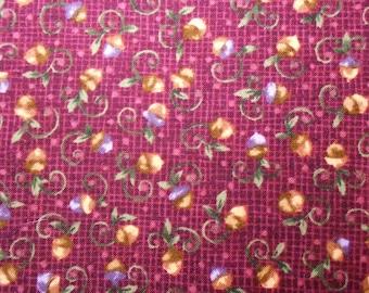 Acorn Hollow on Purple Fabric