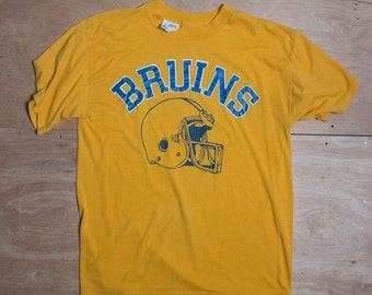 XL | Yellow Vintage Bruins Football T Shirt