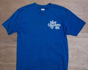 LRG | Royal Blue Vintage T Shirt New Orleans Souvenir Tee 1984