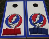 Grateful Dead Custom Cornhole Boards with a Set of Bags - Handpainted Full Board Art