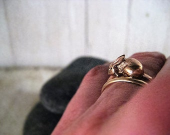 14 kt.Gold  Little Rabbit Ring