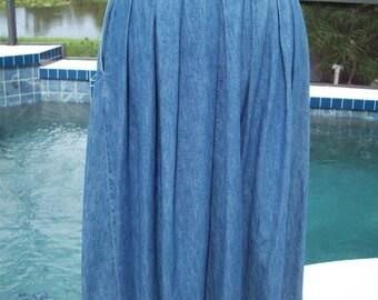 Jean Skirt by LL Bean, Size 14