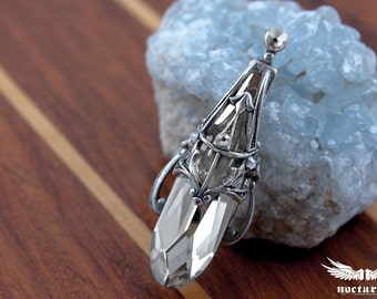 Teardrop Crystal Bindi - Silver Shade Swarovski Color - Gothic Bindi