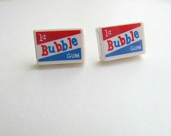 50's Vintage Bubble Gum Stud Earrings