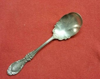 Wallace A1 Silver, Silver Plate Berry Spoon, Shell motif spoon