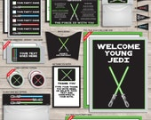 Star Wars Invitations & Decorations - full Printable Package - Birthday Party - INSTANT DOWNLOAD - EDITABLE text you personalize at home