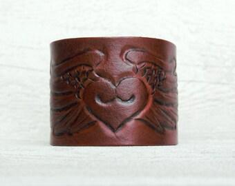 Ladies Leather cuff Free Spirit Hand tooled