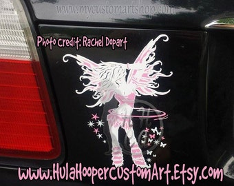 Fantasy Flow Fairy Hula Hooper decal (about 7inches)