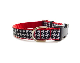 Houndstooth Dog Collar,Personalized Pet Collar*