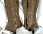 Authentic US Military WWII Army Leg Gaiters Size Small 1R