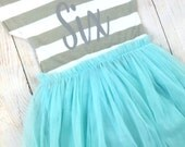 6th Birthday Tutu Dress / Birthday Outfit / Custom Year Dress / Custom Birthday Dress