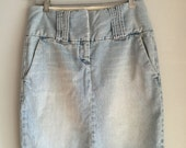 Denim pencil skirt size small