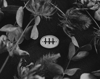 Antichrist - blackwork brooch