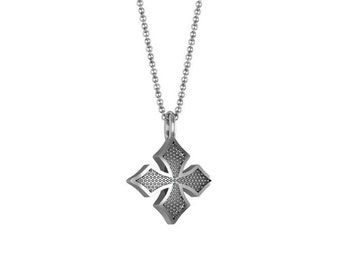 Maltese Cross Necklace in 14k White Yellow Rose Gold | made to order for you within 5-7 business days