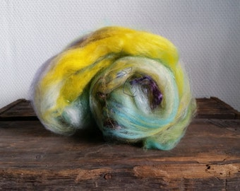Mermaid 1: Art Batt for spinning or felting by Star Fiber Studio 55 g / 1.9 oz