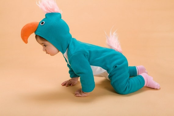 S A L E !!  Baby Costume/ Turquoise Parrot/  Kids Costume/ Toddler Costume/ Halloween Handmade costume