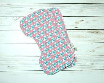 Burp Cloths - Baby Burp Cloth - Burp Rags - Burpies - Burp Cloth Set - Baby Shower Gift - Baby Burping Cloths - Coral and Blue Baby Set