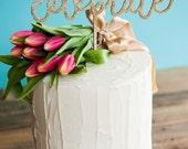 CELEBRATE gold glitter wedding cake topper | anniversary cake topper | birthday cake topper | baby shower cake topper