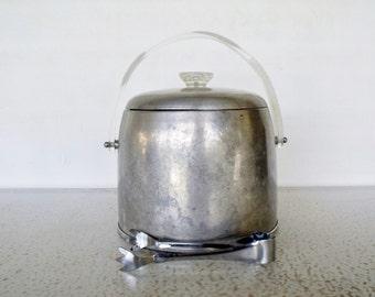 Vintage Ice Bucket Kromex Aluminum Insulated Round