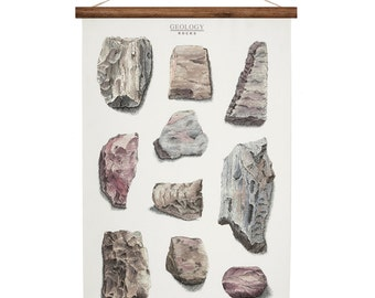 Geology Rocks - canvas poster - vintage educational chart illustration ROP2001B